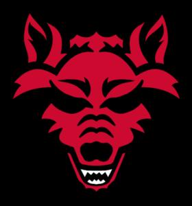 arkansas state red wolves logo